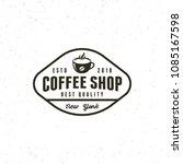 modern vintage coffee shop... | Shutterstock .eps vector #1085167598