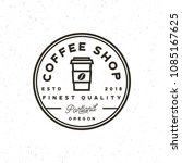 modern vintage coffee shop... | Shutterstock .eps vector #1085167625