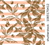 striped seamless pattern with... | Shutterstock .eps vector #1085170412