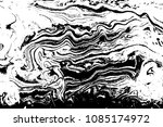 black and white liquid texture. ... | Shutterstock .eps vector #1085174972