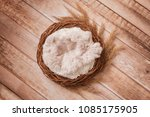 nest of grapevine and spikelets ... | Shutterstock . vector #1085175905
