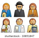 set job icons 3 more jobs in my ... | Shutterstock .eps vector #10851847