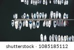 top view of boats at marina... | Shutterstock . vector #1085185112