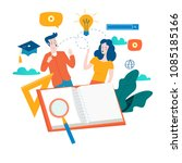 education  online training... | Shutterstock .eps vector #1085185166