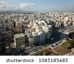 drone aerial view on heraklion  ... | Shutterstock . vector #1085185685