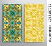 vertical seamless patterns set  ... | Shutterstock .eps vector #1085187752