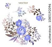 vector.  botanical illustration.... | Shutterstock .eps vector #1085192096