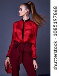 beautiful business woman lady...   Shutterstock . vector #1085197868