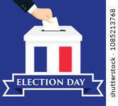 election day in france with the ... | Shutterstock .eps vector #1085213768