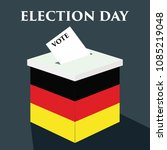 election day in germany with... | Shutterstock .eps vector #1085219048