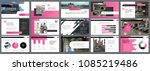 pink and grey infographic... | Shutterstock .eps vector #1085219486