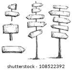 arrow signs vector drawing | Shutterstock .eps vector #108522392
