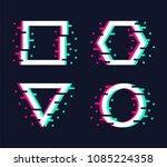 frames set in trendy glitch... | Shutterstock . vector #1085224358