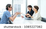 business people meeting in the... | Shutterstock . vector #1085227382