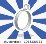 silver diamond ring with blue... | Shutterstock .eps vector #1085230388