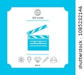 clapperboard icon symbol symbol | Shutterstock .eps vector #1085232146