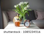 interior. room. a bouquet of... | Shutterstock . vector #1085234516