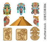 historical symbols of mayan... | Shutterstock .eps vector #1085238386