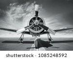 sports plane on a runway | Shutterstock . vector #1085248592