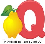 illustration of fruit alphabet  ... | Shutterstock .eps vector #1085248802