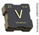 vanadium element symbol from... | Shutterstock . vector #1085249522