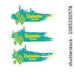ramadan kareem abstract banner... | Shutterstock .eps vector #1085250578