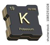 potassium element symbol from... | Shutterstock . vector #1085251028