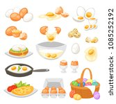 egg vector easter food and... | Shutterstock .eps vector #1085252192