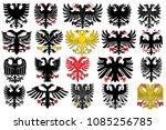 set of heraldic german double... | Shutterstock .eps vector #1085256785