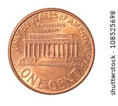 American One Cent Coin Isolate...