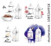 ramadan kareem eid mubarak... | Shutterstock . vector #1085264918