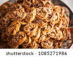detail shot of a big plate of... | Shutterstock . vector #1085271986