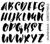 grunge distress font. modern... | Shutterstock .eps vector #1085274812