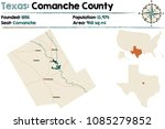 detailed map of comanche county ... | Shutterstock .eps vector #1085279852