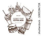 street food festival menu with... | Shutterstock .eps vector #1085286728