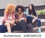 multi ethnic group of young... | Shutterstock . vector #1085289152
