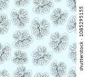 light blue hibiscus flower... | Shutterstock .eps vector #1085295155