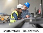 metal industry manager and... | Shutterstock . vector #1085296022