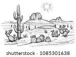 desert landscape vector...   Shutterstock .eps vector #1085301638