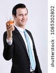 portrait of elegantly dressed... | Shutterstock . vector #1085302802