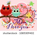 mother's day greeting card. the ... | Shutterstock .eps vector #1085309402