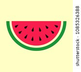 a piece of watermelon. vector... | Shutterstock .eps vector #1085326388