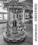Small photo of Honolulu, Hawaii, USA. May 7, 2018. Ornate children merry go round at the expanded Ala Moana Center.