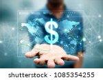 2d rendering dollar symbol   | Shutterstock . vector #1085354255