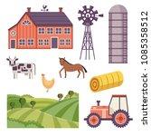rural design elements set....   Shutterstock .eps vector #1085358512