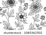 seamless flower pattern... | Shutterstock .eps vector #1085362502