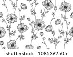 seamless flower pattern... | Shutterstock .eps vector #1085362505
