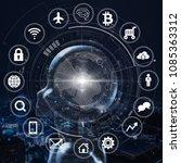 ai  artificial intelligence... | Shutterstock . vector #1085363312