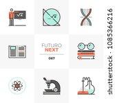 modern flat icons set of stem... | Shutterstock .eps vector #1085366216