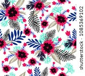 folk seamless pattern with... | Shutterstock .eps vector #1085369102